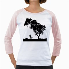 Black Father Daughter Natural Hill Girly Raglans