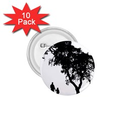 Black Father Daughter Natural Hill 1 75  Buttons (10 Pack)