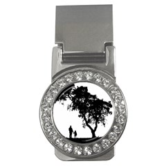 Black Father Daughter Natural Hill Money Clips (cz)