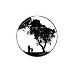 Black Father Daughter Natural Hill Hat Clip Ball Marker
