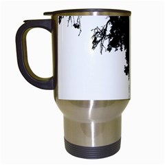 Black Father Daughter Natural Hill Travel Mugs (white)