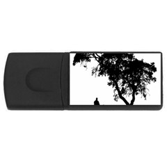 Black Father Daughter Natural Hill Rectangular Usb Flash Drive
