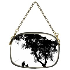 Black Father Daughter Natural Hill Chain Purses (two Sides)