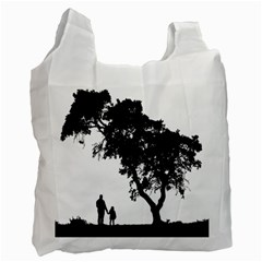 Black Father Daughter Natural Hill Recycle Bag (two Side)