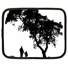 Black Father Daughter Natural Hill Netbook Case (xxl)