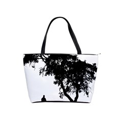 Black Father Daughter Natural Hill Shoulder Handbags