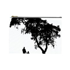 Black Father Daughter Natural Hill Cosmetic Bag (large)