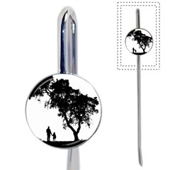 Black Father Daughter Natural Hill Book Mark