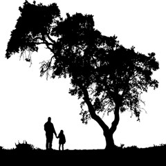 Black Father Daughter Natural Hill Magic Photo Cubes