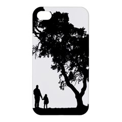 Black Father Daughter Natural Hill Apple Iphone 4/4s Hardshell Case