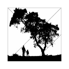 Black Father Daughter Natural Hill Acrylic Tangram Puzzle (6  X 6 )