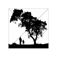 Black Father Daughter Natural Hill Acrylic Tangram Puzzle (4  X 4 )