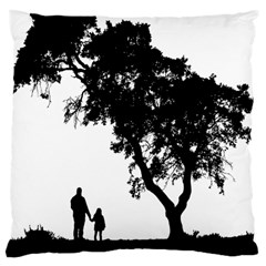 Black Father Daughter Natural Hill Large Cushion Case (two Sides)