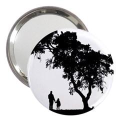 Black Father Daughter Natural Hill 3  Handbag Mirrors