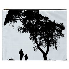 Black Father Daughter Natural Hill Cosmetic Bag (xxxl)