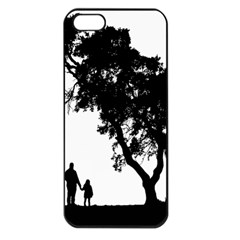 Black Father Daughter Natural Hill Apple Iphone 5 Seamless Case (black)