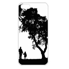 Black Father Daughter Natural Hill Apple Iphone 5 Seamless Case (white)