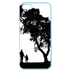 Black Father Daughter Natural Hill Apple Seamless Iphone 5 Case (color)