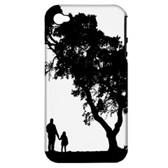 Black Father Daughter Natural Hill Apple Iphone 4/4s Hardshell Case (pc+silicone)