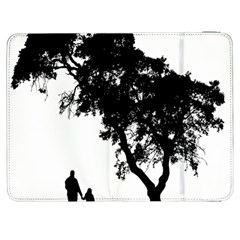 Black Father Daughter Natural Hill Samsung Galaxy Tab 7  P1000 Flip Case