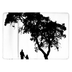 Black Father Daughter Natural Hill Samsung Galaxy Tab 10 1  P7500 Flip Case