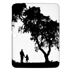 Black Father Daughter Natural Hill Samsung Galaxy Tab 3 (10 1 ) P5200 Hardshell Case