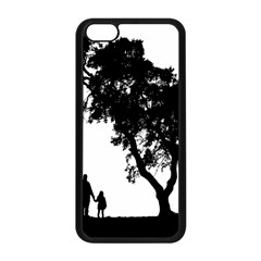 Black Father Daughter Natural Hill Apple Iphone 5c Seamless Case (black)