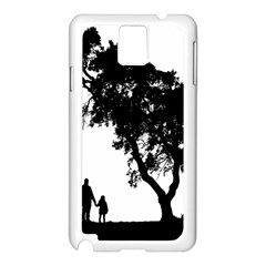 Black Father Daughter Natural Hill Samsung Galaxy Note 3 N9005 Case (white)