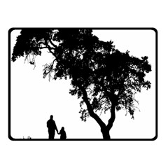 Black Father Daughter Natural Hill Double Sided Fleece Blanket (small)
