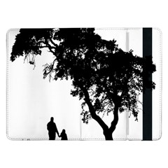 Black Father Daughter Natural Hill Samsung Galaxy Tab Pro 12 2  Flip Case