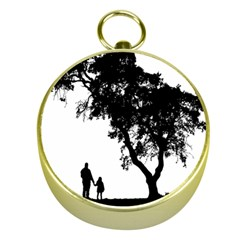 Black Father Daughter Natural Hill Gold Compasses
