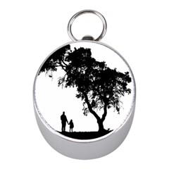 Black Father Daughter Natural Hill Mini Silver Compasses