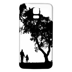 Black Father Daughter Natural Hill Samsung Galaxy S5 Back Case (white)