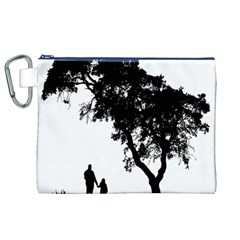Black Father Daughter Natural Hill Canvas Cosmetic Bag (xl)