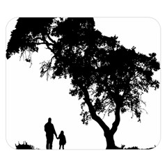 Black Father Daughter Natural Hill Double Sided Flano Blanket (small)