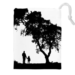Black Father Daughter Natural Hill Drawstring Pouches (xxl)