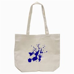 Blue Plaint Splatter Tote Bag (cream)