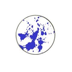 Blue Plaint Splatter Hat Clip Ball Marker (10 Pack)