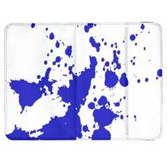 Blue Plaint Splatter Samsung Galaxy Tab 7  P1000 Flip Case