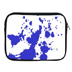 Blue Plaint Splatter Apple Ipad 2/3/4 Zipper Cases