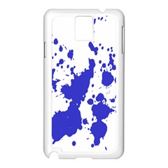 Blue Plaint Splatter Samsung Galaxy Note 3 N9005 Case (white)