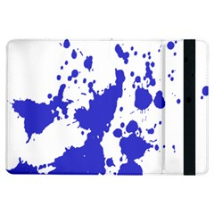 Blue Plaint Splatter Ipad Air Flip