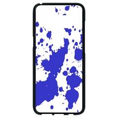 Blue Plaint Splatter Samsung Galaxy S8 Black Seamless Case