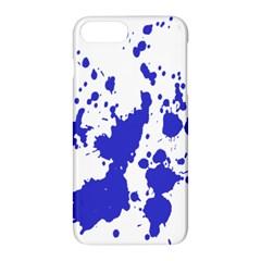Blue Plaint Splatter Apple Iphone 8 Plus Hardshell Case