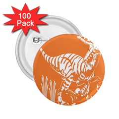 Animals Dinosaur Ancient Times 2 25  Buttons (100 Pack)