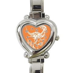 Animals Dinosaur Ancient Times Heart Italian Charm Watch