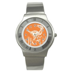 Animals Dinosaur Ancient Times Stainless Steel Watch