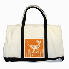 Animals Dinosaur Ancient Times Two Tone Tote Bag