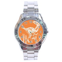 Animals Dinosaur Ancient Times Stainless Steel Analogue Watch