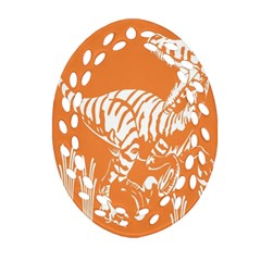 Animals Dinosaur Ancient Times Oval Filigree Ornament (two Sides)